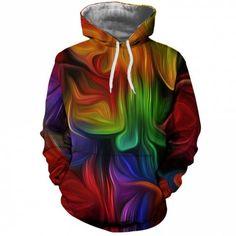 32fec1f8e2cc7 Winter Men s Casual Sports 3D Color Print Large Pocket Hooded Hoodie  Sweatshirt - MULTI - 3XL