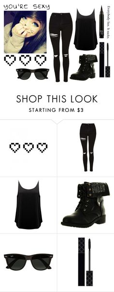 """""""Me As A Girl -Link"""" by xlinklifex ❤ liked on Polyvore featuring Retrò, Topshop, BA&SH, Refresh, Ray-Ban, Gucci and Tiffany & Co."""
