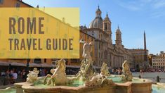 Head on a tour of Rome's top highlights with this Rome travel guide and discover its top sights including museums, the culinary scene, cathedrals and monuments. Travel Guides, Travel Tips, Rome Itinerary, Rome Travel, Best Places To Eat, Cathedrals, Plan Your Trip, Monuments, Museums
