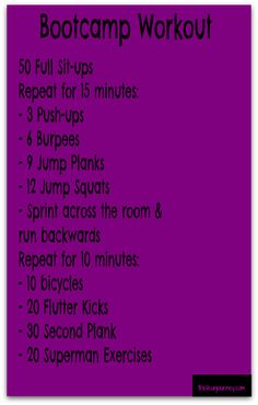 Bootcamp Workout... If I last haha