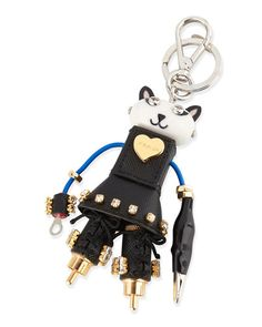 Katy robot trick in Saffiano leather and metal Steel hook and ...