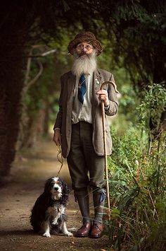 Fellow of The British Society of Master Glass Painters, David Wasley is an artist, shepherd and maker of coloured windows, photographed here on the grounds of Waltham Place on the day of his son's wedding. ~ By TGKW /  Tommy Ga-Ken Wan 溫嘉勤 on Flickr