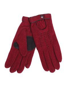 Rękawiczki damskie kolor czerwony SRE0175 - Odzież TOP SECRET