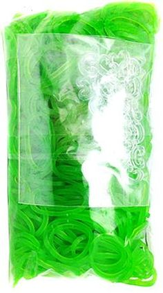 Official Rainbow Loom 600 Ct. Rubber Band Refill Pack *JELLY* LIME GREEN