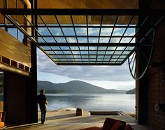 Tom Kundig (in photo too) Chicken Point Cabin. Olson Kundig Architects