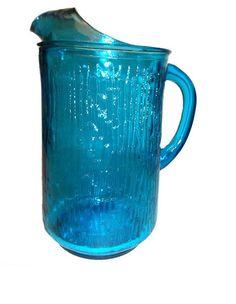 Aqua Blue Pitcher