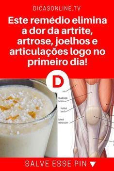 Dor no joelho   Este remédio elimina a dor da artrite, artrose, joelhos e articulações logo no primeiro dia!   Mais um maravilhoso remédio da medicina natural. Ele pode curar rapidamente as dores da artrite, artrose, joelhos e articulações. E também é excelente no tratamento da fibromialgia. Aprenda!