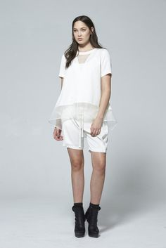 Shop luxury women's designer clothes new season collection from renowned NZ fashion designer at taylor boutique online, worldwide delivery. Spring Summer 2015, Online Boutiques, White Shorts, Two By Two, Normcore, Clothes For Women, Tees, Fashion Design, Shopping