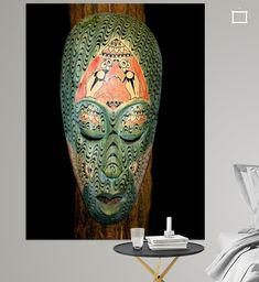 Nieuw in mijn Werk aan de Muur shop: Masker