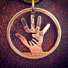 Hand in Hand- Coin Pendant - Thornhill Jewellery