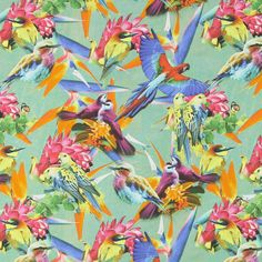 Poplin Paradise - colour mix - Poplin - Blouse and Dress Fabrics - Cotton Prints Flowers - Cotton Prints Animals - myfabrics.co.uk