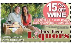 Does your mama LOVE wine? Yeah, ours too. Hook her up this Mother's Day with an arsenal of her favorite wines but save 15% with your frugals coupon at Tax Free Liquors in Delmar, DE while you're at it! Print it out at www.frugals.biz