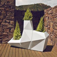 Pot Faz XL blanc Vondom #design #jardin #jardiniere #nature #végétation #decoration