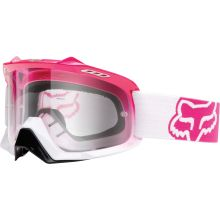Fox Racing AIRSPC Goggle - Pink-White Fade/Clear Lens: See the bigger picture with the new Fox AIRSPC goggles. By increasing air volume inside the frame by the AIRSPC goggle takes ventilation, peripheral vision and comfort to a new level. Womens Motocross Gear, Motocross Love, Motorcross Helmet, Protection Moto, Dirt Bike Gear, Dirt Bikes, Pink White, Hot Pink, Motosport