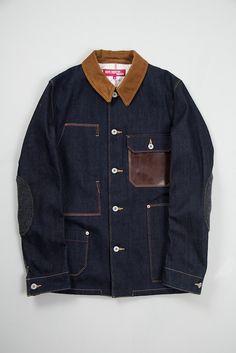 Junya Waranabe Indigo Denim Levi's Work Jacket