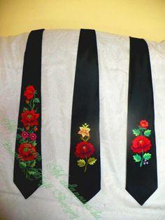 Łowickie krawaty haftowane - Łowicki Haft Ręczny - Marianna Madanowska // Polish embroidery, Łowicz