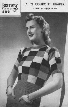 vintage ladies Bestway knitting patterns