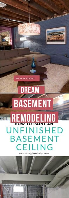 Best DIY Renovation Ideas for unfinished Basement Basement Decorating, Basement Makeover, Basement Renovations, Diy Crafts For Gifts, Diy Home Crafts, Simple Diy, Easy Diy, Unfinished Basement Ceiling, Rustic Stairs