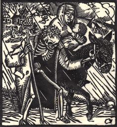 The Death-Dance Anno (Vom Totentanz Anno) by Otto Wirsching (Germany, 1915) From the collection of Richard Sica http://50watts.com/Otto-s-Dance-of-Death