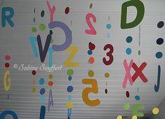 Bunte Buchstaben am Band 5 Professor, Back To School, School Stuff, Kindergarten, Diy Blog, Decor, Teachers' Day, Crafts, First Week Of School Ideas