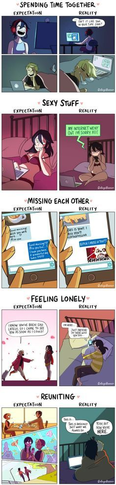 5 Adorable Comics About Long Distance Relationships: Expectation VS. Reality
