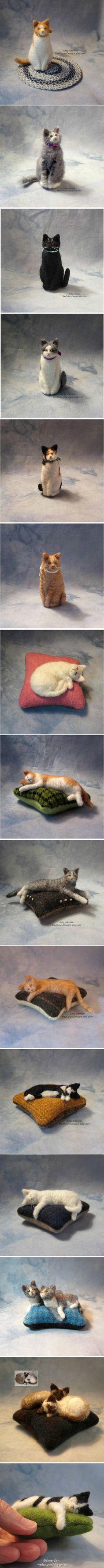Judy Johnson (USA) - Felted Cats BayColonyDesigns
