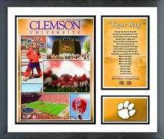 Clemson University Tigers 11 x 14 Double Matted & Framed Milestones and Memories