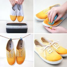 DIY Dip Dye Shoes