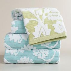 One of my favorite discoveries at WorldMarket.com: Cool Ombre Bliss Bouquet Sculpted Bath Towel Collection