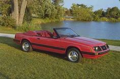 1983 Mustang  The convertible finally returned for 1983. All Mustangs also received a redesigned grille and taillights. In addition, engine choices were shuffled up, mainly for the better. Engines 2.3 liter I4 88 bhp. 2.3 liter I4 Turbo 145 bhp. 3.8 liter V6 112 bhp. 5.0 liter V8 HO 175 bhp.