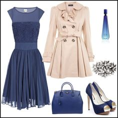 Cute Dress Up Outfit.  Cool Blue, created by sandraunicenter on Polyvore.   Love this shade of blue.
