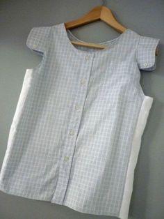 Comment transformer une chemise d'homme en haut pour femme - What a fantastic idea for the cuff sleeve caps!