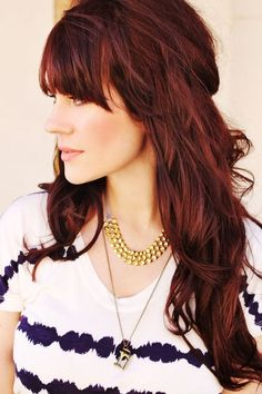 Mahogany Hair Color Pictures in Fashion