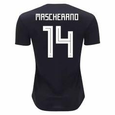 2018 World Cup Jersey Argentina Away Mascherano Replica Black Shirt Steven Gerrard, Football Match, Football Fans, Soccer Games, Soccer Jerseys, Argentina World Cup 2018, Premier League, World Cup Jerseys, Iker Casillas