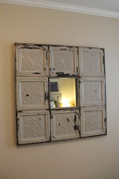 tin tile mirrors | Tin Tile Mirror 8 Tile by bungalonine on Etsy
