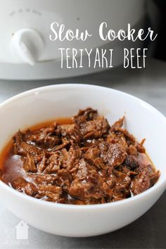 Slow Cooker Teriyaki Beef - AS FOR ME AND MY HOMESTEAD