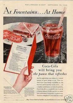"Coca-cola Ad ""At Fountains... (1932)"