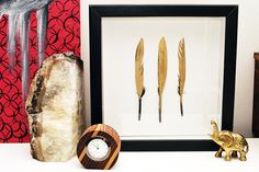 Make your own gilded feathers with this step by step tutorial.