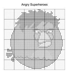 Cross Stitch - Angry Bird Superheroes 12 of 16 - hulk