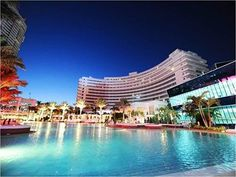 "The Fontainebleau at Miami Beach is the setting for numerous scenes of ""Goldfinger""with Sean Connery"