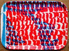 Jonna Saarinen Wooden Breakfast Tray - love the layers of color