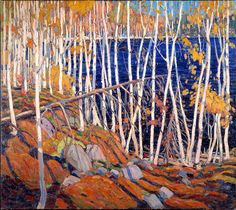 I have always been a great fan of the paintings of Canada's Tom Thomson and the Group of Seven. This painting, In the Northland , is by Tom . Emily Carr, Group Of Seven Art, Group Of Seven Paintings, Canadian Painters, Canadian Artists, Landscape Art, Landscape Paintings, Canada Landscape, Tom Thomson Paintings