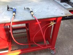 Welding Table on casters - possible use of my material (cast polyamide which I can produce) for the casters. My contact: tatjana.alic14@gmail.com
