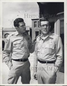 1965 Press Photo Andy Griffith & Jerry Van Dyke- The Andy Griffith Show