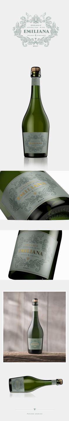 Organic Sparkling Wine | EMILIANA on Behance #wine #packaging