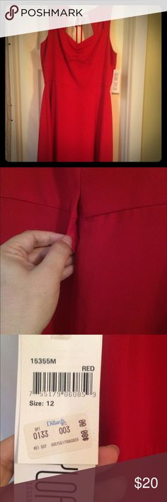 Paint the town RED! New Red Dress never worn. Has a small rip at the seam. Bought from Dillard's. Dresses Midi