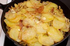 patatas al horno con cebolla