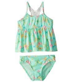 Hula Star Girls' Dreamy Butterfly Tankini Set (2T-6X) at SwimOutlet.com – The Web's most popular swim shop