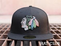 Custom Chicago Blackhawks 59Fifty Fitted Cap