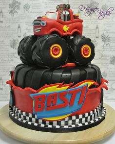 Blaze and the Monster Machine - Cake by Phey